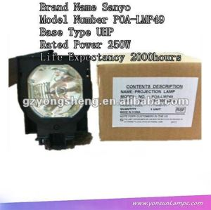 الأصلي للحصول على مصباح ضوئي سانيو poa-lmp49 uhp250w وحدة المصباح الأصلي مع السكن