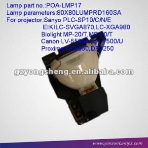 La lámpara del proyector para poa-lmp17 plc-sp10 sanyo