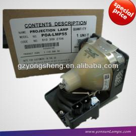 Original sanyo bombilla poa-lmp55 uhp200w1.0 p21.5 utilizado para proyector plc-xu55