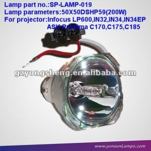 ORIGINAL INFOCUS SP-LAMP-019 PROJECTOR LAMP 200W FIT FOR LP600/IN32/IN34/IN36