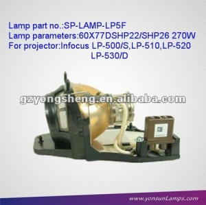 Projector Lamp with housing/Mercury Lamp SP-LAMP-LP5F For Infocus LP-520