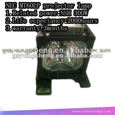 per nec mt60lp 300w nsh lampada del proiettore con custodia