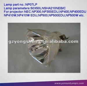 Projector Bare Lamps NP07LP to fit NP600S/NP600EDU/NP610 projectors