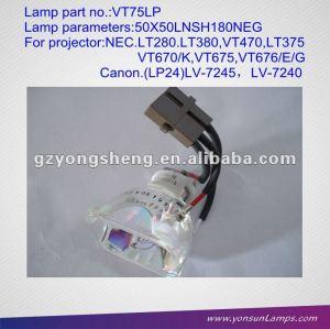 مصابيح بروجكتور nec المصابيح ضوئي العارية vt75lp/ lt280 مصابيح لإسقاط