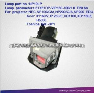 مصباح ضوئي لnec np10lp مع نوعية ممتازة