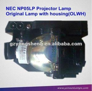مصباح ضوئي الأصلي مع السكن مصباح ضوئي nec مصباح بروجيكتور nec np05lp