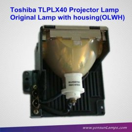 original tlplx40 toshiba proyector de la lámpara para tlp x4100e proyector