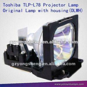 Toshiba tlp-l78 lampada del proiettore con gabbia/alloggiamento per il proiettore tlp-380