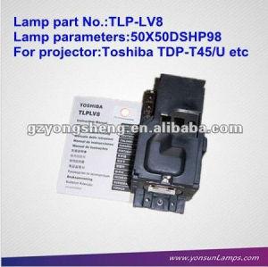Tlp-lv8 lampada del proiettore per toshiba con qualità eccellente