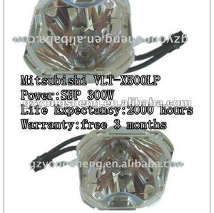 Vlt-x500lp per mitsubishi x500 shp 300w proiettore lampadina nuda