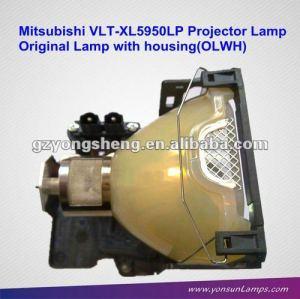 Per mitsubishi vlt-xl5950lp lampada del proiettore, originale con custodia