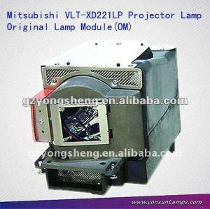 Caldo - vendita lampada del proiettore vlt-xd221lp con alloggiamento per mitsubishi sd220u/xd221u