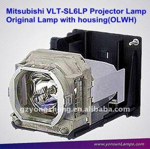 Per mitsubishi vlt-sl6lp lampada del proiettore