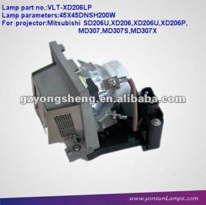 Lampada del proiettore compatibile con vlt-xd206lp alloggiamento per il proiettore lvp-sd206