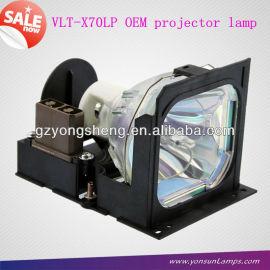Para mitsubishi vlt-x70lp lámpara del proyector