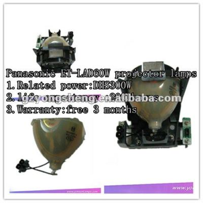 Für original panasonic et-lad60w dhs300w projektor lampe mit gehäuse
