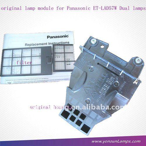 Dual projektorlampe für panasonic et-lad57w Doppelpack