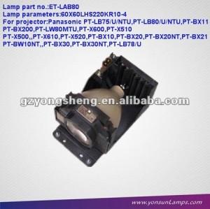Lampe ET-LAB80 de projecteur utilisée pour PANASOINC PT-BX10
