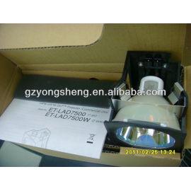 La lámpara del proyector panasonic et-lad7500w/ws pt-d7500 para proyector