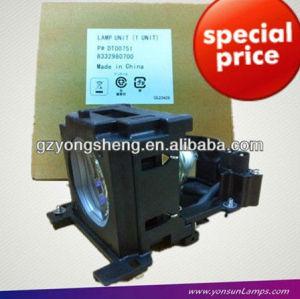 Lampe de projecteur dt00751 cp-x265 projecteur. ajustement pour hitachi