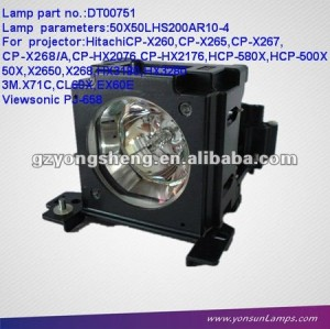 DT00751 PROJECTOR LAMP WITH HOUSING FOR CP-X260/CP-X265