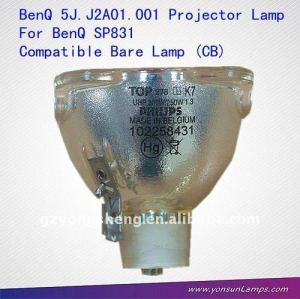 Kompatibel nackten lampe( cb) für benq 5j. J2a01.001 sp831 projektorlampe