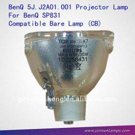 Compatible con la lámpara desnuda( cb) para benq 5j. J2a01.001 sp831 lámpara del proyector