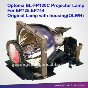 Proyector original blub bl-fp120c para ep725 optoma lámpara del proyector