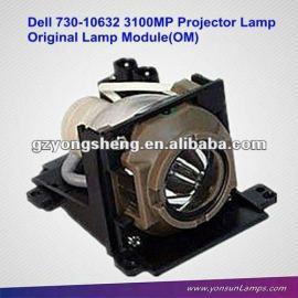 Lámpara del proyector original bombillas 310-1705/730-10632 con vivienda para dell 3100mp