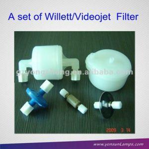 Para willett/videojet filtro de inyección de tinta con 500-0047-130 de plástico para la industria de impresión con resistente a la corrosión de los materiales