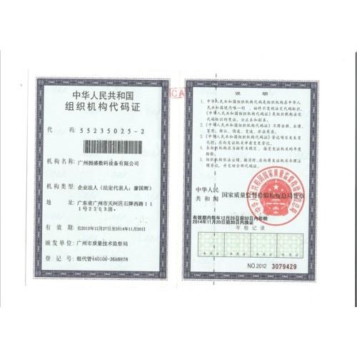 Certificado de código de Organización de la República Popular de China