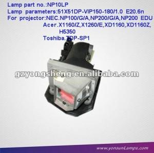 الأصلي المصابيح ضوئي للإسقاط np10lp