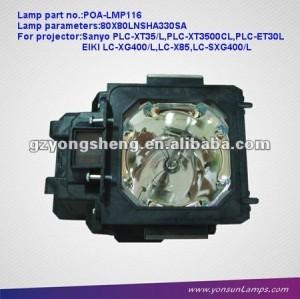Copmatible العارض مصباح POA-LMP116 لSANYO PLC-ET30L