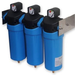 Combined Coalescing Compressed Air Filter Package with EU made drain
