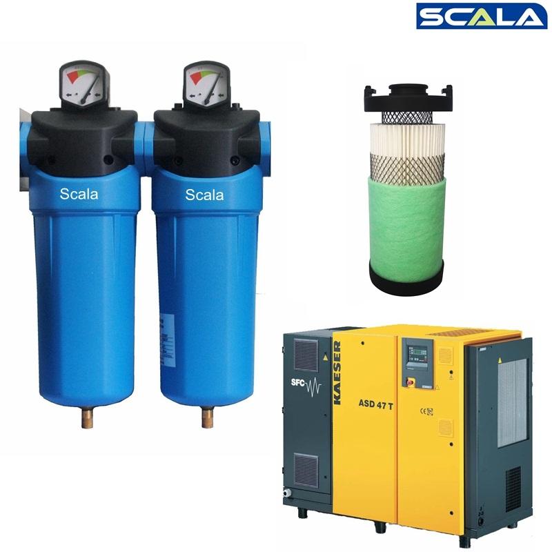 Inline Air Compressor : F cfm inline compressed air filter for screw