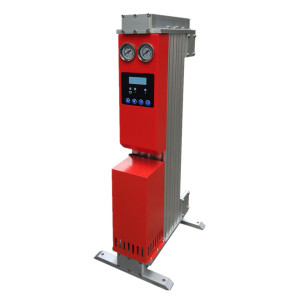 Mini heatless desiccant compressed air dryer for point of use application