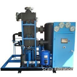 water-cooled refrigeration compressed air dryer with high efficiency aluminum heat exchanger