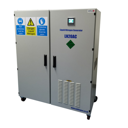 20 Liters per day Intelligent liquid nitrogen generator with 50Liters dewar tank for NMR laboratory