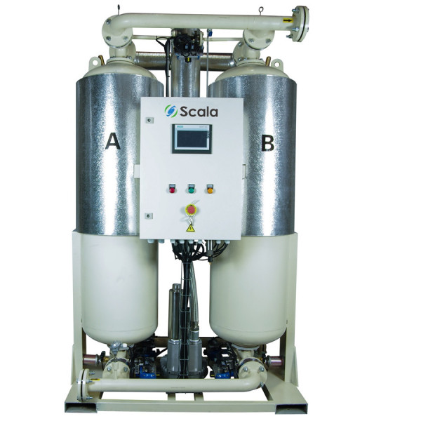 blower purge adsorption desiccant air dryer with dew point control