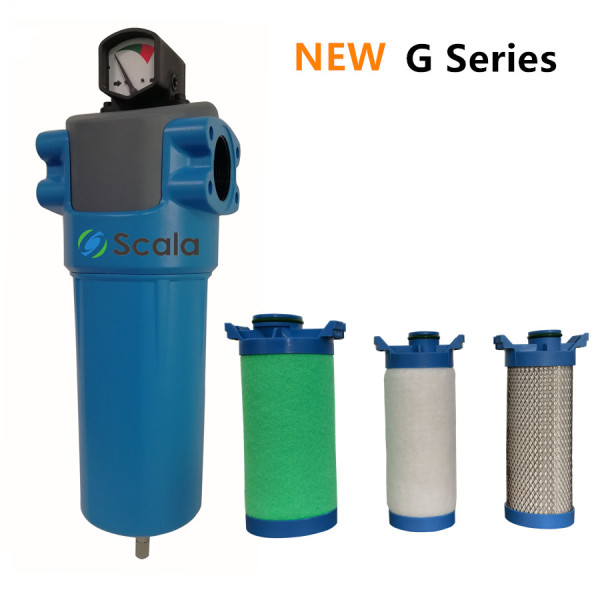 G Series high efficiency thread compressed air filter for air compressor