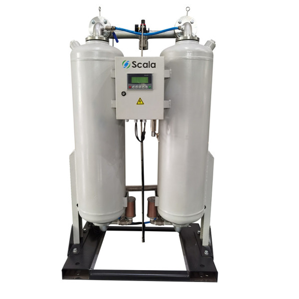 heatless desiccant compressed air dryer | with dew point control |