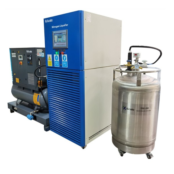 Automatic liquid nitrogen generator | 80 liters per day liquid nitrogen plant |  with 200 liters LN2 tank