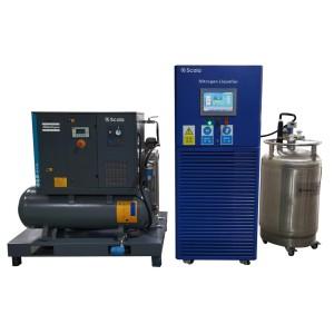 small scale automatic liquid nitrogen plant |  80liters per day with 200L storage tank