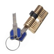 Crescent-Shaped Double Side Cutaway Inside View kaba Practice Lock professional locksmith supplies with 2 keys