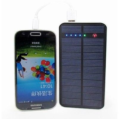12000mAh Solar Power bank Emergency Dual USB Connector Charger for Smart Phone