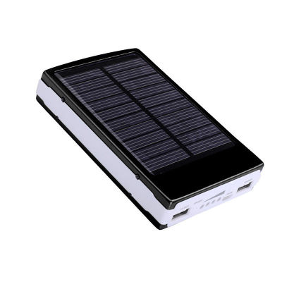 20000mAh Portable Solar Power Bank Battery Charger Mobile Phones Tablets 2 USB