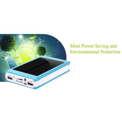 30000mAh Portable Solar Power Bank Battery Charger Mobile Phones Tablets 2 USB