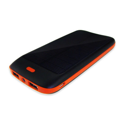 Portable 10000mAh Solar Dual USB External Battery Power Bank Pack Charger Iphone