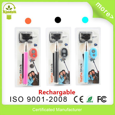 Rechargable Bluetooth Camera Remote Control Shutter + Handheld Selfie Stick Monopod Tripod + Holder for iPhone Android