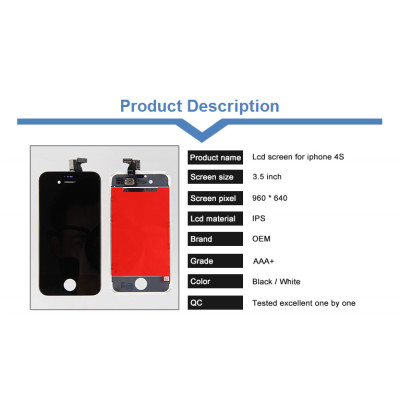 Digitizer Assembly for iPhone 4S LCD Screen